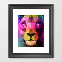 Wild Neon 01a. Framed Art Print by Three Of The Possessed