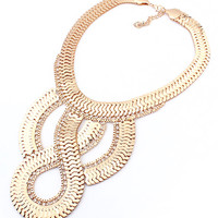 Golden Twist Chunky Chain Necklace - Choies.com