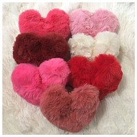 Adorable Heart Puffy Puff Keychain Purse Charm