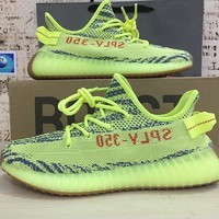 Adidas Yeezy Boost 350 V2 Semi Frozen Yellow Running Shoes