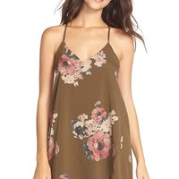Women's Free People 'Cascades' Floral ChiffonChemise,
