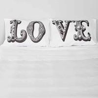 The Rise And Fall Love Pillowcase - Set Of 2- Black & White One