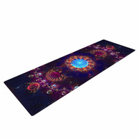 "Cvetelina Todorova ""Royal Jewels"" Purple Blue Yoga Mat"