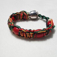 HOOKAH PIPE bracelet Limited Edition rasta HEMP Shhmokewear- jewlery by Pallagi
