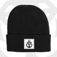 Stay Sick Clothing - Anchor Diamond Patch Beanie