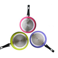 Gohide Frying Pan In Colorful Design Eco-friendly Cooking Pot Flat Bottom Pot No Lampblack Pan