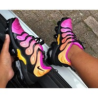 Nike Air Vapormax Plus Woman Men Fashion Running Sport Shoes Sneakers Rose red