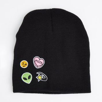 Mixed Alien Embroidered Patch Beanie | Hats & Beanies | rue21