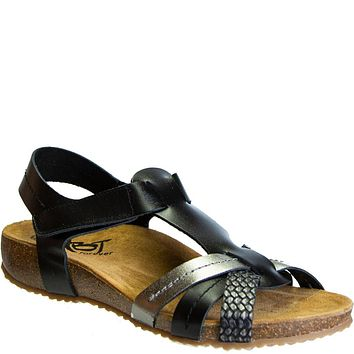 OTBT - JEANETTE in BLACK Wedge Sandals
