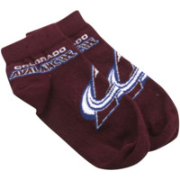 Colorado Avalanche Youth Large Logo Sock - Burgundy - http://www.shareasale.com/m-pr.cfm?merchantID=7124&userID=1042934&productID=520988605 / Colorado Avalanche