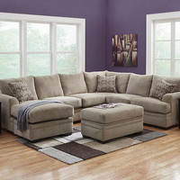 Platinum Gray 2 Pc. Sectional (reverse) - Living Room Sets - Living Room - mobile