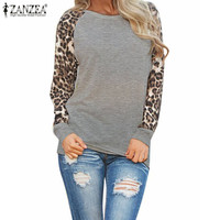 Women Ladies Spring Autumn Long Sleeve Leopard Loose Casual Tees Tops T Shirt Plus Size M-3XL