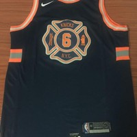 New York Knicks #6 Kristaps Porzingis City Edition Swingman Jersey