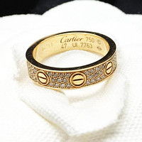 """""""Carti"""" Unisex More Rows Of Drill Diamond Ring Stars Couple Ring Accessories"""