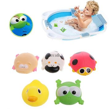 Cute Animals Baby Kids Bath Play Toys Float Spray Water Swimming Pool Shower