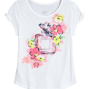 TIE SLEEVE GRAPHIC TOP | GIRLS DRESSED FOR SPRING SALE | SHOP JUSTICE