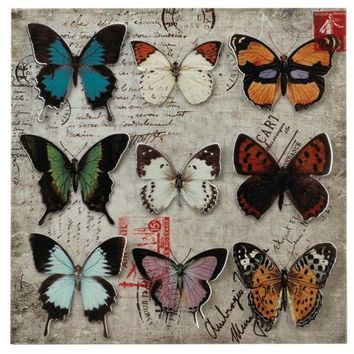 Butterfly Collage 3D Metal Wall Art