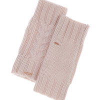 Cashmere Cable Knit Fingerless Gloves