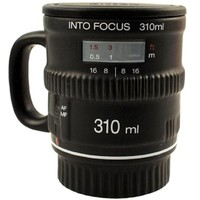 Into Focus Mug - Camera Lens Mug With Lid Lenscap
