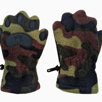 Infant & Toddler Camouflage Fleece Mittens