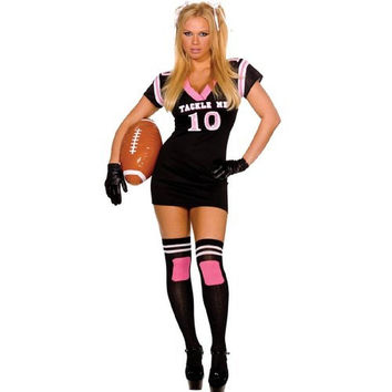 Dreamgirl Womens Tackle Me Halloween Party Dress Costume