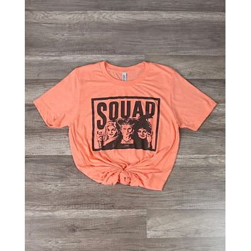 Distracted - Squad Goals Hocus Pocus Halloween Graphic Tee in Heather Orange