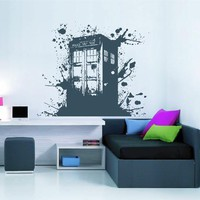 ik2255 Wall Decal Sticker Time Machine Spaceship tardis doctor who bedroom