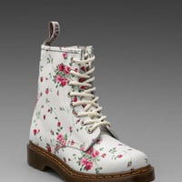 Dr. Martens 8-Eye Boot in White from REVOLVEclothing.com