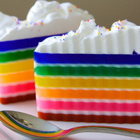 Rainbow Soap  Frosted Rainbow Cake Soap glycerin by Soapmuchlove