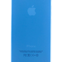 Blue Frosted Transparent Soft Case for iPhone 5 & 5s