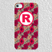 Monogram iphone 4 case - plastic - A Love Song for iphone 4 case, monogram iphone 4, iphone4 cover
