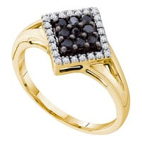 Black Diamond Fashion Ring in 10k Gold 0.25 ctw