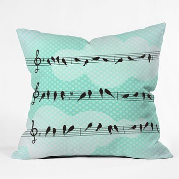 Belle13 Musical Nature Throw Pillow
