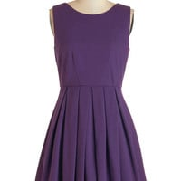 ModCloth Mid-length Sleeveless A-line Cue the Compliments Dress in Amethyst