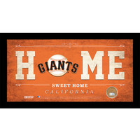 San Francisco Giants 10x20 Home Sweet Home Sign with Game-Used Dirt from AT&T Park
