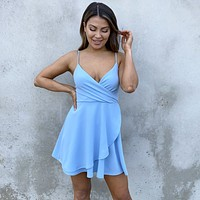 Sweet Escape Blue Skater Dress
