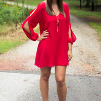 Learn To Fly Dress - Red