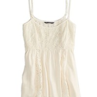 's Embroidered Mesh Cami