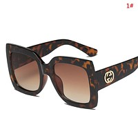 GUCCI New fashion polarized leopard contrast color glasses eyeglasses women 1#