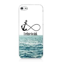 S9Q Anchor Chevron Retro Vintage Tribal Nebula Pattern Hard Case Cover Back Skin Protector For Apple iPhone 5C Style B White