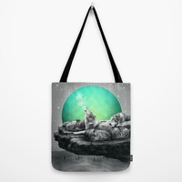 Echoes of a Lullaby / Geometric Moon Tote Bag by Soaring Anchor Designs | Society6