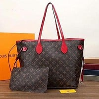 Louis Vuitton LV Classic Printed Letters And Color Matching Two-Piece Shopping Bag Shoulder Bag Messenger Bag