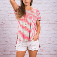 Collect Moments Top, Coral