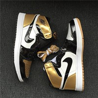 Air Jordan 1 Top 3 Gold 861428-001 40--47