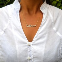 Custom Name Necklace Personalized Name Necklace is a great gift for you or your loved Minimalist Handmade Nameplate Necklace