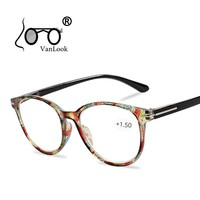Floral Cat's Eye Reading Glasses with Diopters Women's Spectacles Degree Eyeglasse Frame for Sight +1.0 +1.5 2.0 2.5 3.0 3.5 4.0