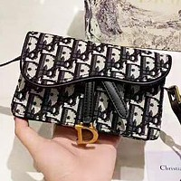 D DIOR New fashion more letter leather shoulder bag women