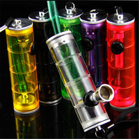 1 Pc Acrylic Colorful Pipe Portable Pipe Cleaners Mouth Tips Water Pipe Smoking Pipe Grinder Accessories Color Random