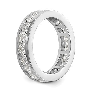 3 Ct. Natural Diamond Womens Eternity Wedding Band Ring in 14k White Gold