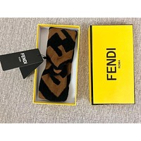 FENDI New Popular Women Men Personality Crochet Knit Knitted Headwrap Headband Warmer Head Sport Hair Band Coffee